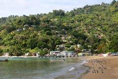 Het strand van Charlotteville, Tobago Royalty-vrije Stock Foto's