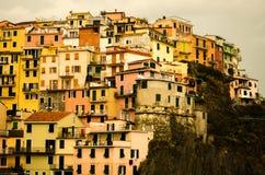 Mening van Cinque Terre Italy Stock Afbeelding
