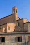 Mening van Citta della Pieve. Umbrië. Stock Afbeelding