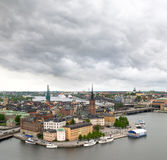 Mening van cityscape van Stockholm Royalty-vrije Stock Foto