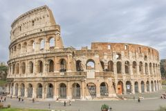Mening van Coliseum in Rome, Italië royalty-vrije stock afbeelding
