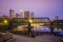 Mening van Columbus Ohio Skyline van de binnenstad stock afbeelding