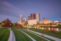 Mening van Columbus Ohio Skyline van de binnenstad stock foto