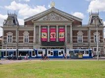 Mening van Concertgebouw-concertzaal in Amsterdam Royalty-vrije Stock Foto's
