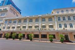 Mening van Continentaal Saigon-hotel stock afbeeldingen