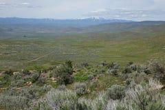 Mening van Crane Creek, Idaho royalty-vrije stock afbeelding