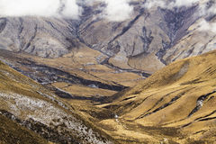 Mening van Cuesta del ovispo in de winter stock foto's