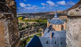 Mening van dak in Alcazar Royalty-vrije Stock Afbeeldingen