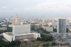 Mening van dak van hotel de Oekraïne moskou Witte Huis Royalty-vrije Stock Fotografie