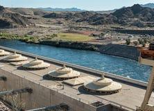 Mening van Davis Dam royalty-vrije stock foto's