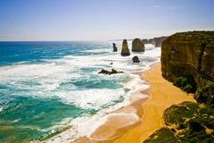Mening van de 12 Apostelen bij Grote OceaanWeg, Melbo Stock Foto