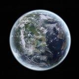 Mening van de aarde in ruimte Stock Foto's