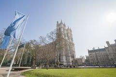 Mening van de Abdij van Westminster in Londen, Engeland, het UK Stock Foto's