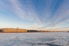 Mening van de Academie van St. Petersburg van Arts. Stock Foto's