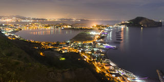 Mening van de baai en Capo Miseno royalty-vrije stock foto's