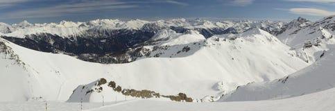 Mening van de berg (2), Serre Chevalier, Frankrijk Stock Foto's