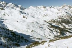 Mening van de berg (3), Serre Chevalier, Frankrijk Stock Fotografie