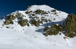 Mening van de berg (4), Serre Chevalier, Frankrijk stock afbeeldingen