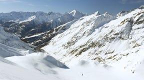 Mening van de berg (6), Serre Chevalier, Frankrijk Stock Foto