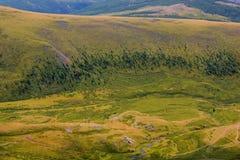 Mening van de berg aan de heuvels Royalty-vrije Stock Afbeelding