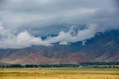 Mening van de bergen royalty-vrije stock fotografie