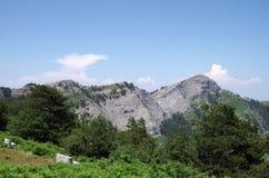 Mening van de bergen Stock Foto
