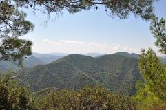 Mening van de bergen Stock Foto's