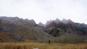 Mening van de Bergen Aspen Colorado royalty-vrije stock foto