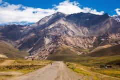 Mening van de bergen van de Andes, Valle Hermoso Royalty-vrije Stock Afbeeldingen
