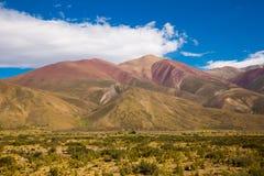 Mening van de bergen van de Andes, Valle Hermoso Royalty-vrije Stock Fotografie