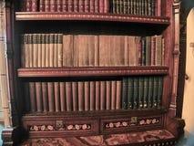 Mening van de bibliotheken van het Kasteel van Cardiff stock foto's