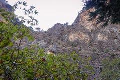 Mening van de bodem aan de bergen stock foto