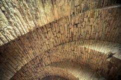 Mening van de bogen van de oude historische steenbrug Royalty-vrije Stock Fotografie