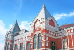 Mening van de bouw van het Dramatheater in Samara Royalty-vrije Stock Afbeeldingen