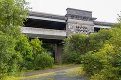 Mening van de Britannia-brug van onderaan royalty-vrije stock fotografie