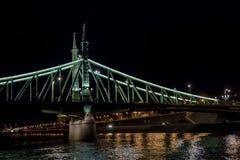Mening van de brug bij nacht royalty-vrije stock afbeeldingen