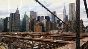 Mening van de Brug van Brooklyn stock fotografie
