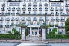 Mening van de buitenvoorgevel van Hotel Grand Hotel Des Iles Borro Stock Fotografie