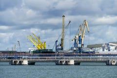 Mening van de bulkterminal Royalty-vrije Stock Foto's