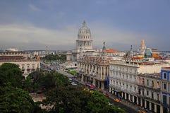 Mening van de Centrale het westenkant van Parque van Havana, Cuba Royalty-vrije Stock Foto's