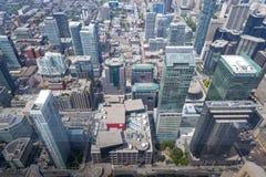 Mening van de CN Toren stock afbeeldingen