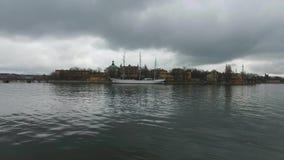 Mening van de de Stadsstad van Stockholm de Oude, Zweden stock videobeelden