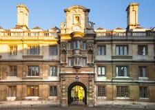 Mening van de de universiteits de binnenwerf van Clare, Cambridge Royalty-vrije Stock Fotografie