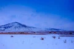 Mening van de de winterbergen van de hoogste Tsjechische berg - Snezka Stock Foto's
