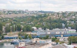Mening van de donkere dag van Sebastopol Stock Foto's