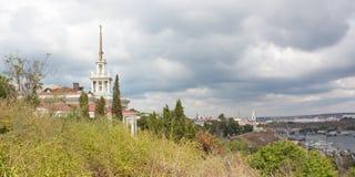 Mening van de donkere dag van Sebastopol Royalty-vrije Stock Foto