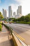 Mening van de elegante flats in Singapore stock fotografie