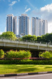 Mening van de elegante flats in Singapore stock foto