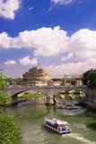 Mening van de Engel van kasteelHeilige in Rome Royalty-vrije Stock Fotografie