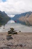 Mening van de fjord Royalty-vrije Stock Fotografie